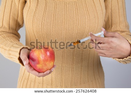 Healthy diet and nutrition prevents illness and diseases - stock photo