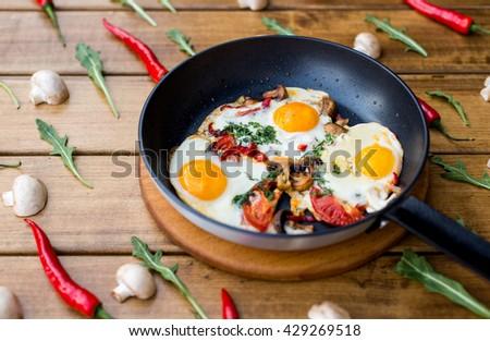 Healthy diet breakfast - stock photo
