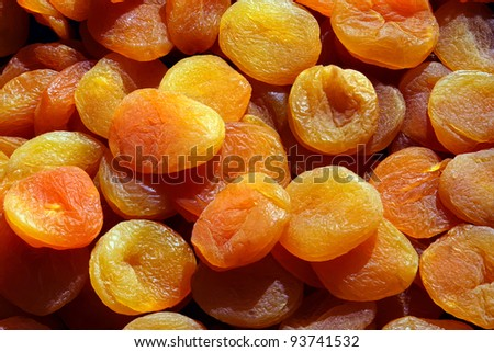 Healthy dried fruit is a tasty snack