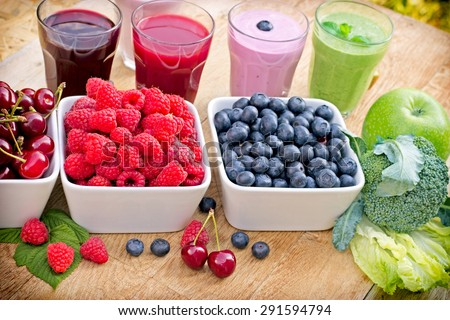 Healthy drinks - beverages - stock photo