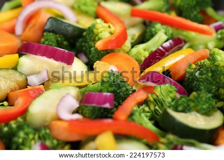 Healthy eating preparing and cooking food vegetables background