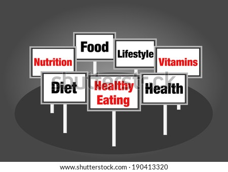 Healthy eating signs - stock photo