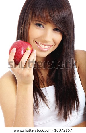 Healthy Eating Woman portrait