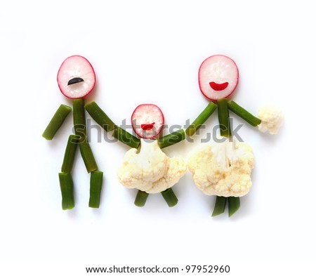 Healthy family concept - stock photo