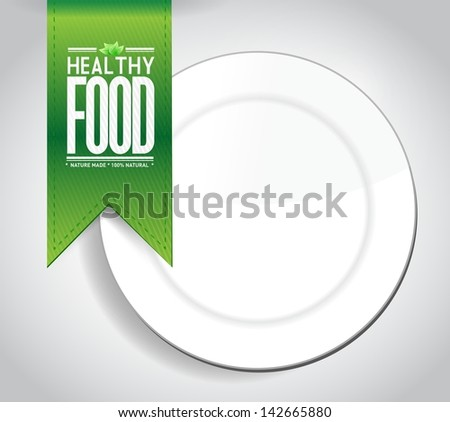 healthy food banner concept illustration design graph over a white background - stock photo