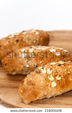 Healthy food bread cereal seeds.