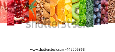 Healthy food concept. Fresh food. Fruits and vegetables