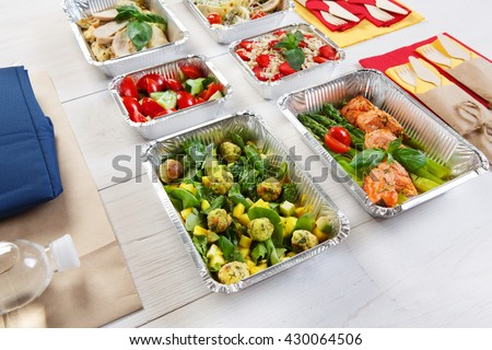 Healthy Food Delivery Take Away Natural Stock Photo Royalty Free