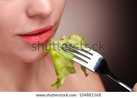 healthy food for girl - stock photo