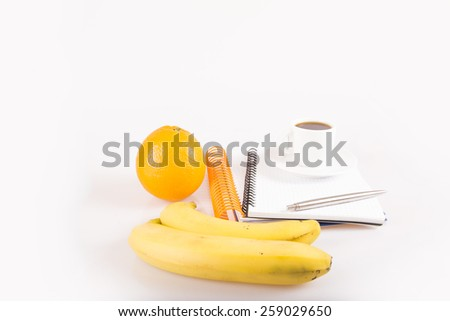 Healthy food for sports people, diet plan - stock photo