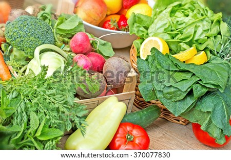 Healthy food - fresh organic vegetables - stock photo