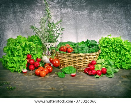Healthy food - healthy eating - stock photo