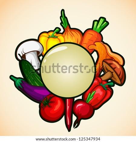 healthy food menu background Vegetable . bitmap version - stock photo