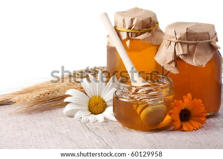 healthy food on gray texture - stock photo