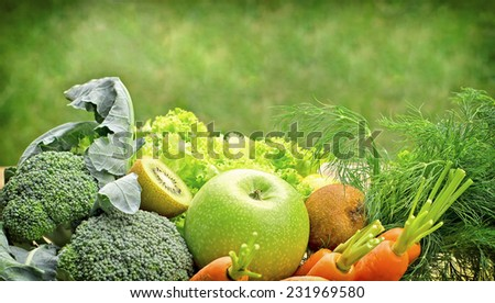 Healthy food - vegetarian food - stock photo