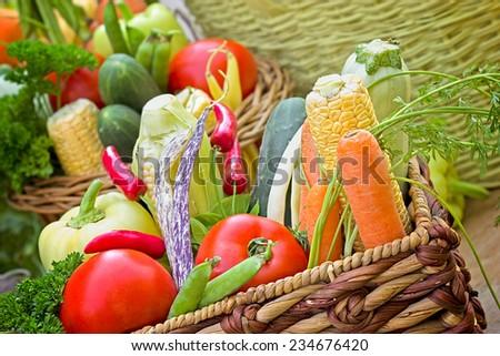 Healthy food - vegetarian food - stock photo