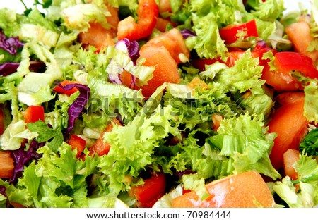 Healthy Fresh Salad  background - stock photo
