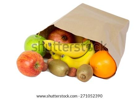 healthy fruit mix - stock photo