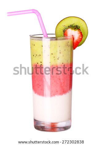 healthy glass of smoothies collection flavor isolated on white background