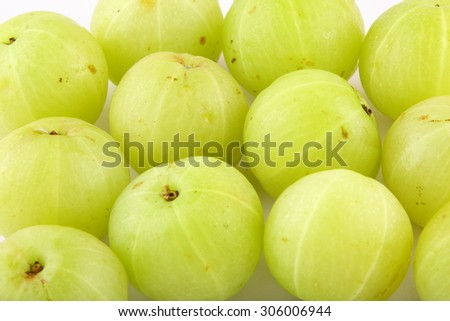 Healthy  gooseberries .