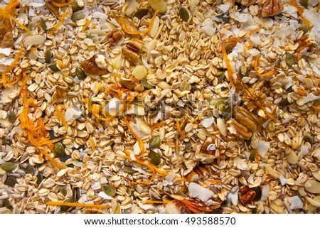 Healthy Granola as a background