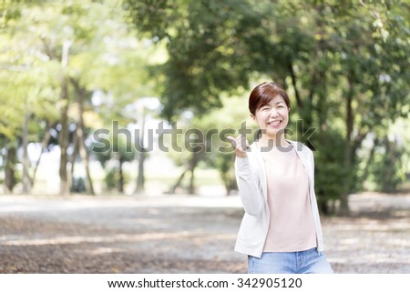Healthy Japanese women - stock photo
