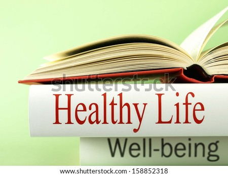 Healthy life (book reviews) - stock photo