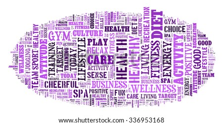 Healthy life illustration word cloud concept