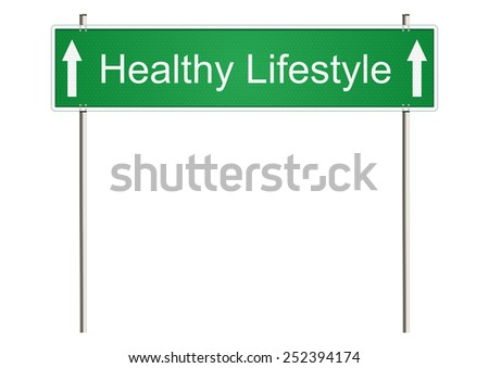 Healthy life. Traffic sign on a white background. Raster.
