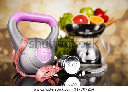 Healthy lifestyle concept, vitamins composition - stock photo
