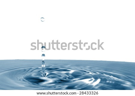 healthy lifestyle concept with splashing water drop isolated on white background