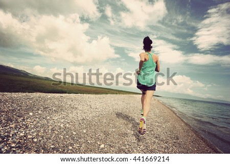 healthy lifestyle fitness young woman runner running outdoor