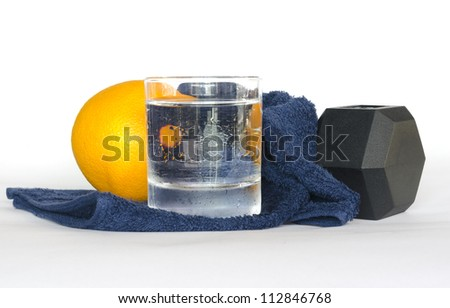 healthy lifestyle,Healthy eating and exersice for good health - stock photo