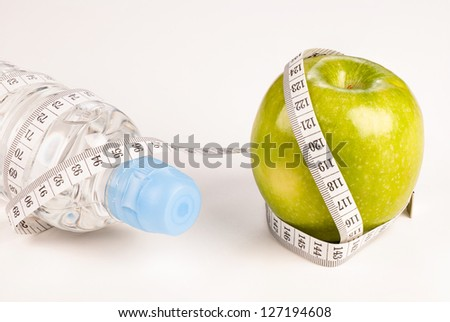 Healthy lifestyle still life, a concept - stock photo