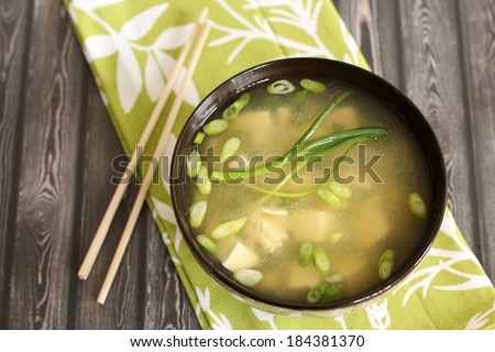 Healthy Miso Soup - stock photo