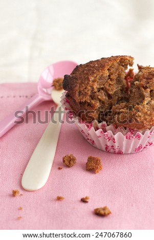 Healthy muffin  home baked - stock photo