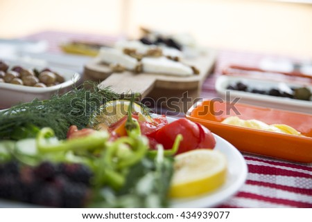 healthy raw foods on the table