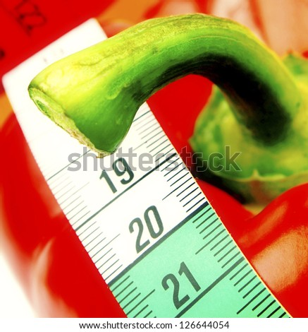 Healthy red papper - stock photo