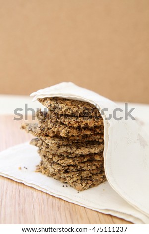 Healthy Seed Crackers with space for text