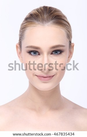 Healthy Spa Woman with perfect skin Portrait Caucasian Girl