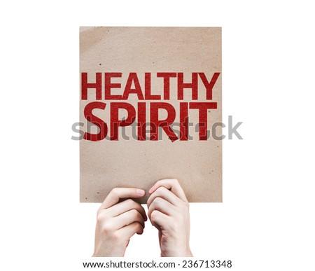 Healthy Spirit card isolated on white background - stock photo