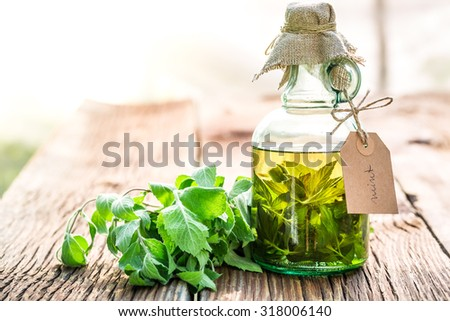 Healthy tincture in bottles as natural medicine - stock photo