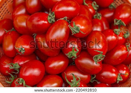 Healthy tomatoes background - stock photo