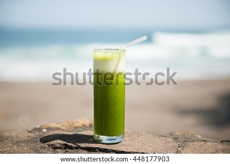 Healthy tropical drink, stock picture