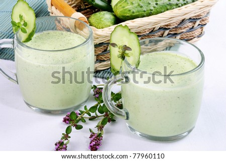 healthy vegetable drink - stock photo