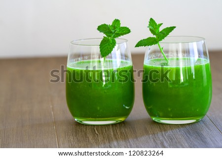 healthy weed grass juice - stock photo
