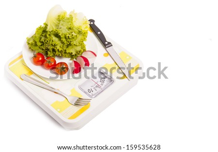 Healthy weight loss - stock photo