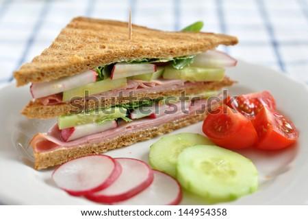 Healthy Whole Grain Sandwich - stock photo