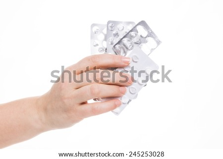 healtn car - tablets and pills - stock photo