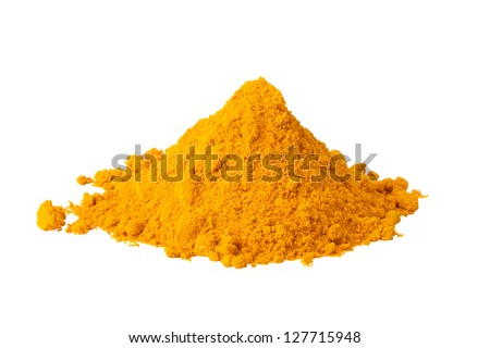 Heap ground Curry isolated on white background - stock photo